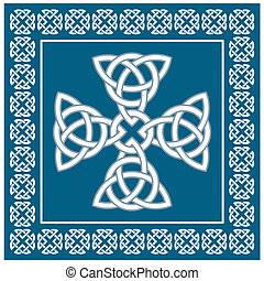 Celtic cross ornament, symbolizes eternity, vector ...