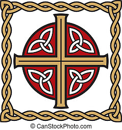 Celtic cross - Symbolic celtic cross with detailed ornaments