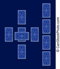 Celtic cross tarot spread. Card back side - Celtic cross...