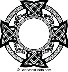 celtic cross - The vector image of cross with celtic...