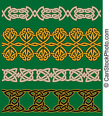 Celtic embellishments and ornaments