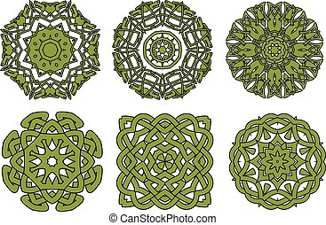 Celtic floral and animal ornaments