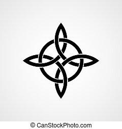 Celtic four-cornered knot