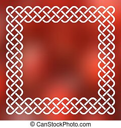 Celtic frame over abstract background - Traditional style...