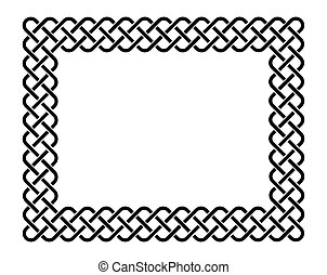 Celtic frame - Traditional celtic style braided knot frame,...
