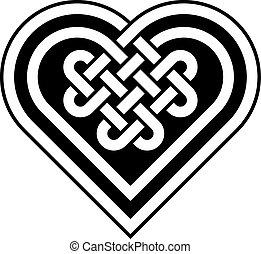 Celtic heart shape knot