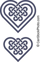 Celtic heart shape knot