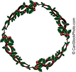 Celtic holly wreath