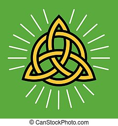 Celtic Infinity Knot Vector Design.