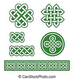 Celtic Irish patterns and braids