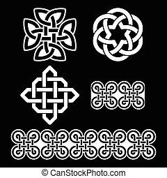Celtic Irish white patterns