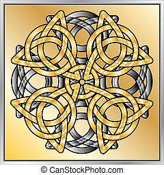 Celtic knot abstract - A vector illustration of Celtic knots...