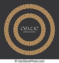 Celtic knot braided frame border circle ornament