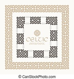 Celtic knot braided frame border ornament kit.