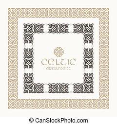 Celtic knot braided frame border ornament kit.