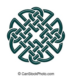 Celtic Knot - Celtic Dara knot, symbol of strength. isolated...