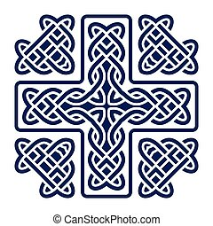 celtic knot cross vector - celtic knot cross isolated on...