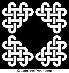 Celtic knot frame vector