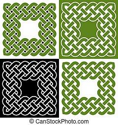 Celtic knot frames, vector