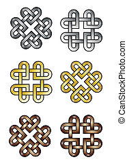 Celtic knot hearts - Celtic knot made of hearts. EPS10...