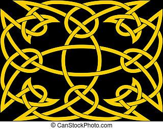 Celtic knot panel