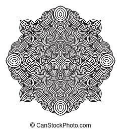 celtic knot pattern card, mandala, amulet