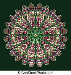 celtic knot pattern card, mandala, amulet - celtic knot...