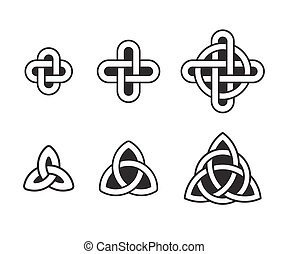 Celtic knot set - Celtic knots set, traditional ancient...