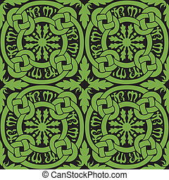 Celtic Knot Tile Pattern - A seamless, circular Celtic knot...