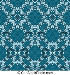 knot tribal seamless pattern