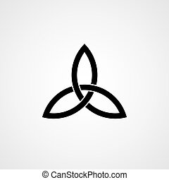Celtic knot. Trinity. Vector