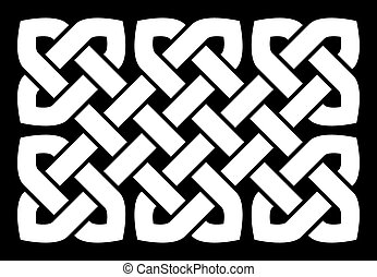 Celtic knot vector illustration (pointed corners, black and...