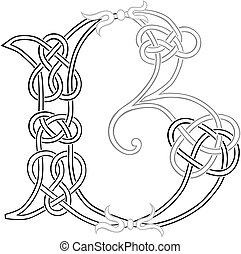 Celtic Knot-work B - A Celtic Knot-work Capital Letter B...