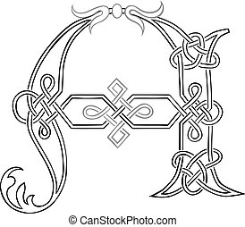 Celtic Knot-work Capital Letter A
