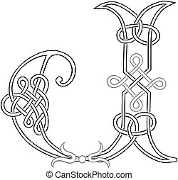 Celtic Knot-work J - A Celtic Knot-work Capital Letter J...