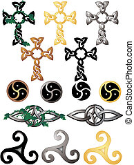Celtic Knots and symbols - Grouping of different knots and...