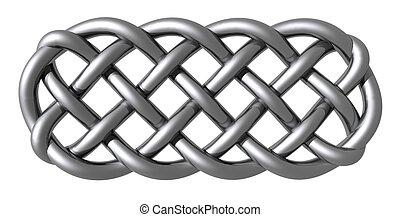 celtic knots - metal celtic knots on white background