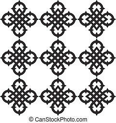 Celtic knots pattern