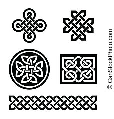 Celtic knots patterns - vector - Set od traditional Celtic...