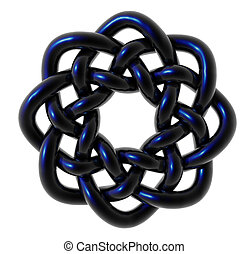 celtic knots design on white background - 3d illustration