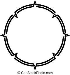 Celtic Knotwork Round Decorative Ornamental Border Frame