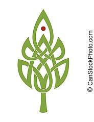 Celtic leaf