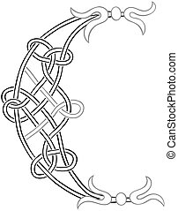 Celtic Letter C - A Celtic Knot-work Capital Letter C...