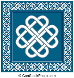 Celtic love knot, symbol of good fortune, vector illustration