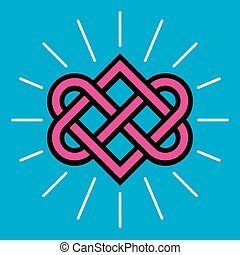 Celtic Love Knot Vector Design.