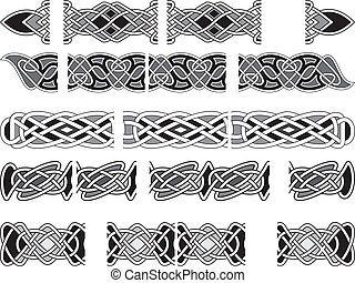 Celtic medieval ornaments