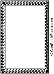 Celtic national background. - Background with frame Celtic...