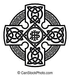 Celtic national cross. - Celtic cross. National ornament...