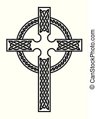 Celtic national cross. - Celtic cross with national ornament...