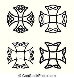 Celtic national cross. - Set of Celtic cross with national...